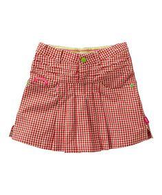 Loving this Red  White Gingham Skirt - Toddler  Girls on #zulily! #zulilyfinds
