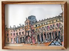 Past Exhibitions — The Voorkamer Gallery Watercolour, Past, Louvre, Ink, Gallery, Drawings, Pen And Wash, Watercolor Painting, Past Tense