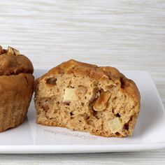 Apple Peanut Protein Muffins -Andréa's Protein Cakery high protein recipes