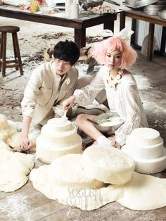 Lee Seungmi, Ahn Jaehyeon for Voguegirl Korea May 2011 by Ryoo Hyungwon