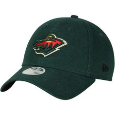 Women's New Era Green Minnesota Wild Preferred Pick 9TWENTY Adjustable Hat