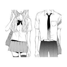 Tumblr ❤ liked on Polyvore featuring anime, manga, fillers, drawings, couples, backgrounds, doodle and scribble
