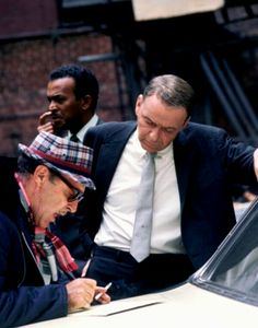 Frank Sinatra on the set of The Detective / AS1966