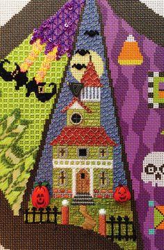 It's not your Grandmother's Needlepoint, Halloween needlepoint tree skirt