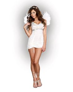 977ded778 Knocking on Heavens Door Adult Womens Costume Angel Halloween Costumes
