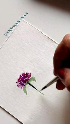 Watercolor Art Lessons, Watercolor Paintings For Beginners, Watercolor Flowers Tutorial, Floral Watercolor, Diy Canvas Art, Watercolors, Flower Art, Doodles, Join