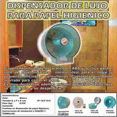 """DISPENSADOR DE LUJO PARA PAPEL HIGIENICO HOGAR - DECORA Y PROTEGE Vlr. $ 25990 CONTACTO: - Cel 1:(3006392167 Whats App) -Cel 2: 3174489307 BOGOTA D.C. - PARA COMPRAR DE CLICK AQUI: http://goo.gl/rhZjDQ - DESPACHOS A TODA COLOMBIA - TIEMPO DE ENTREGA DE 24 A 48 HORAS. - PAGOS DEBITO BANCARIO """"PSE"""" - TARJETAS DE CREDITO O EN EFECTIVO POR VIA BALOTO, SIN SOBRE-COSTOS DE GIRO O REMESA. Lujoso dispensador en ABS de alto impacto y acrilico decoratico para el rollo de papel higienico normal en el…"""