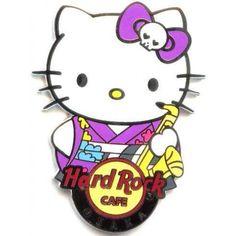 Hard Rock Cafe Osaka UCW 2011 Hello Kitty Kimono Pin