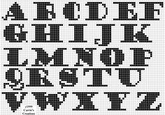 Free cross stitch alphabets from freepatternsonline.com