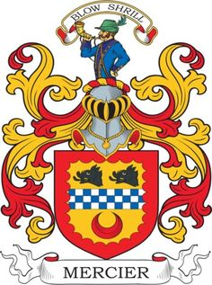 Mercier Family Crest and Coat of Arms