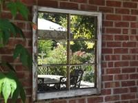 I did this to an old window....putting mirrors in it. Only thing I did different is I sanded the windows to its natural state and stained it.