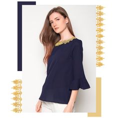 Beat the heat with Chelsea's Breezy top.  It features a patterned neckline details and bell-shaped long sleeves - perfect for desk to dinner wear.   #zaloraph #robinsonsdeptstore #fbloggers #fbloggersuk #fashion #style #onlineshopping