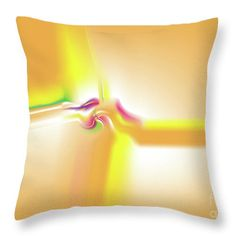 Yellow Throw Pillow featuring the digital art Vividae by Ron Labryzz