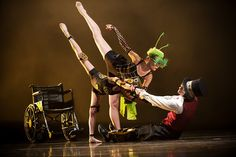 """Gregory Hancock Dance Theatre     """"Pinocchio"""" - A spectacular and dark version set in a """"Steampunk"""" world featuring beautiful trios an duets with Gepetto (in a wheelchair) the Cricket and Pinocchio.  A cautionary tale of bad and good that can occur with the choices we make."""