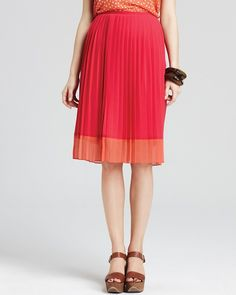 Style : Eleven Skirts That Will Make You Twirl  Jones New York Collection Pleated Color Block Skirt | Bloomingdale's