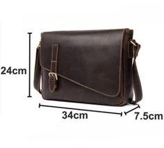 Leather Messenger Bag, Handmade Leather Briefcase, Business Bag MS159 Leather Messenger Bag, Handmade Leather Briefcase, Business Bag MS159 - Leajanebag