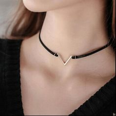 Fashion V Shape Choker Necklace Torques Summer Punk Style Black Short Velvet Collar Necklaces For Women collares collier femme Black Choker Necklace, Evil Eye Necklace, Collar Necklace, Fashion Necklace, Fashion Jewelry, Pendant Necklace, Choker Necklaces, Trendy Jewelry, Fashion Fashion