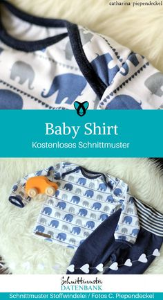 Baby shirts with an American neckline are just super or super easy to put on. No button that has to be opened or closed until the baby fidgets… Read more Baby shirt Anika Kirchner Baby Baby shirts with an American neckline are just su Baby Clothes Storage, Baby Clothes Quilt, Baby Clothes Patterns, Clothing Patterns, Diy Clothes, Quilt Baby, Winter Baby Clothes, Baby Winter, Baby Girl Fashion