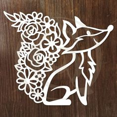 Discover this Papercut Floral Fox SVG/DXF Cutting file, and thousands more high quality designs for Cricut, Silhouette, and other cutting machines at Craft Genesis. Window Cling Vinyl, Paper Cutting Templates, Baby Clip Art, Cricut Craft Room, Paper Crafts Origami, Kirigami, Vinyl Projects, Picture Design, Fall Crafts