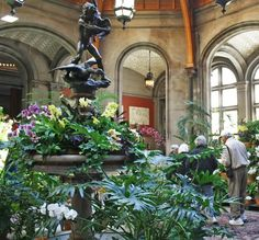 Hundreds of orchids inside Biltmore House's Winter Garden during Biltmore Blooms 2014.