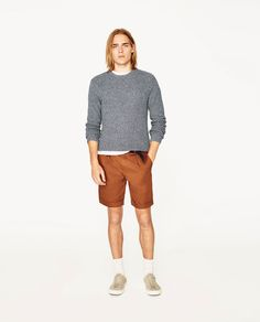 Image 1 of BERMUDA SHORTS WITH BELT from Zara