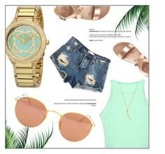 """summer on fleet"" by jomashop ❤ liked on Polyvore featuring Ray-Ban"