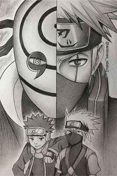 Kakashi Sharingan, Naruto Uzumaki Shippuden, Naruto Kakashi, Anime Naruto, Fan Art Naruto, Gaara, Boruto, Naruto Sketch Drawing, Kakashi Drawing