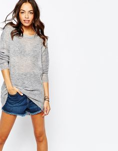 Only Knitted Zip Back Detail Jumper Dress