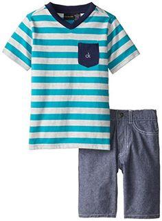 Calvin Klein Little Boys' Stripes V-Neck Tee with Denim Shorts 4-7, Blue, 4 Calvin Klein http://www.amazon.com/dp/B00R4K4SK2/ref=cm_sw_r_pi_dp_zIyevb1JFFYPW