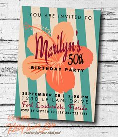 PRINTABLE Birthday Party Invitation Bridal Shower by KittyLovesLou, $18.00