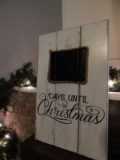 What a great way to countdown to Christmas while maintaining a beautiful rustic decor style. Hang it on the wall, set it on a mantle or use it