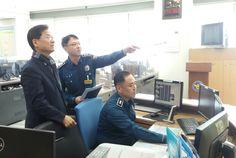 천정배 전 대표, 광주지방경찰청 112 상황실 격려 방문