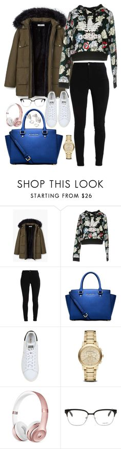"""Untitled #2394"" by thisishowwedress on Polyvore featuring MANGO, adidas Originals, MICHAEL Michael Kors, Burberry, Prada and Forever 21"