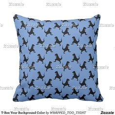 T-Rex Your Background Color Throw Pillow