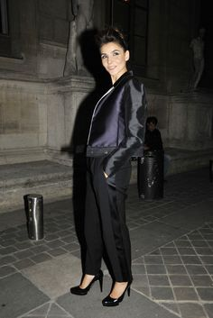 Clotilde Courau Front Row at Lanvin [Photo by Pascal Therme]