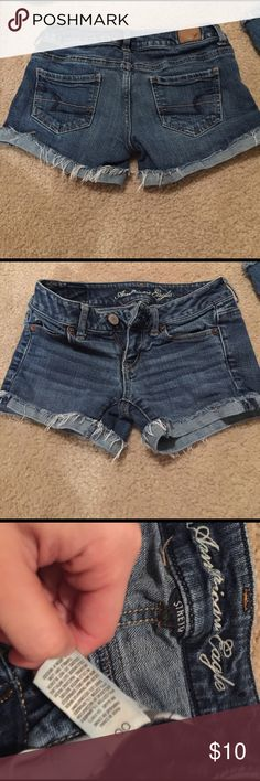 American Eagle size 00 Jean shorts. Stretchy. American Eagle Jean shorts. Size 00. Super stretchy and fit nice around your booty. Worn several times still in good condition. American Eagle Outfitters Shorts Jean Shorts