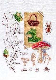 Moja pasja, mój świat: Sampler - Promenons nous dans les bois - Souvenirs d'Enfance au point de croix - Véronique Enginger
