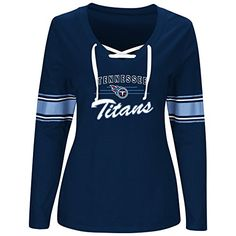 NFL womens TITIANS L/S JERSEY  V NECK TEE  https://allstarsportsfan.com/product/nfl-womens-titians-ls-jersey-v-neck-tee/  nfl plus women's long sleeve jersey vee neck lace up – 100% cotton