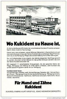 Original-Werbung/ Anzeige 1970 - ANSICHT VON WEINHEIM / KUKIROL FABRIK…