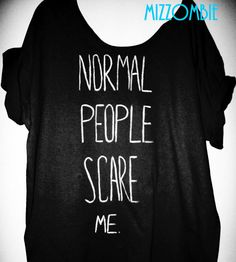 American Horror story inspired NORMAL PEOPLE scare me by Mizzombie, $25.00