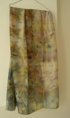 SILK SHAWL - fantastic , delicate, unique, handmade, Hand-dyed by leaves and plants,finished product by EcoDyeing on Etsy