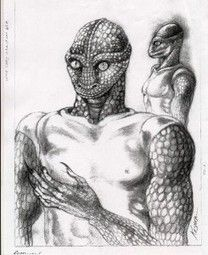 Reptilians or Reptoids are a race of lizzard or snake like alien humanoids that inhabit the Earth Underground, can shapeshift, and are part of a large conspiracy for a new world order. Aliens And Ufos, Ancient Aliens, Dragon Oriental, Alien Abduction, Alien Races, Conspiracy Theories, Illuminati, First World, Necklaces