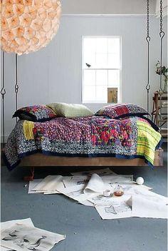 Floating Sleep Stations : Barnwood Hanging Bed