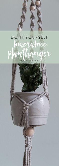 DIY macrame planthanger