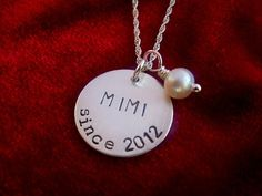 Grandmother Sterling Silver Hand Stamped Necklace by OohSoCharming Hand Stamped Necklace, Stamped Jewelry, Mimi Love, Hand Gestempelt, Metal Stamping, Sterling Silver Necklaces, Jewelry Making, Bling, Jewels