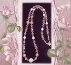 FABULOUS ROSE PINK GATSBY STYLE CRYSTAL LONG LONG NECKLACE