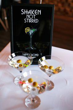 James Bond Party, Shaken Not Stirred, Group, Instagram, Decor, Decoration, Decorating, Deco