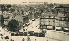 Le Rond-Point Carnot et la route de Paris - Bfm Limoges