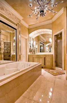 9 Luxury Bathroom Shower and Tub Design Ideas - Traditional Bathroom, Bathroom Model, Bathroom Decor, Amazing Bathrooms, Bathrooms Remodel, Beautiful Bathrooms, Bathroom Design Luxury, House, Luxury Bathroom