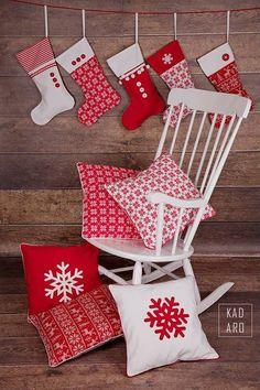 Christmas pillow covers scandinavian style cushions